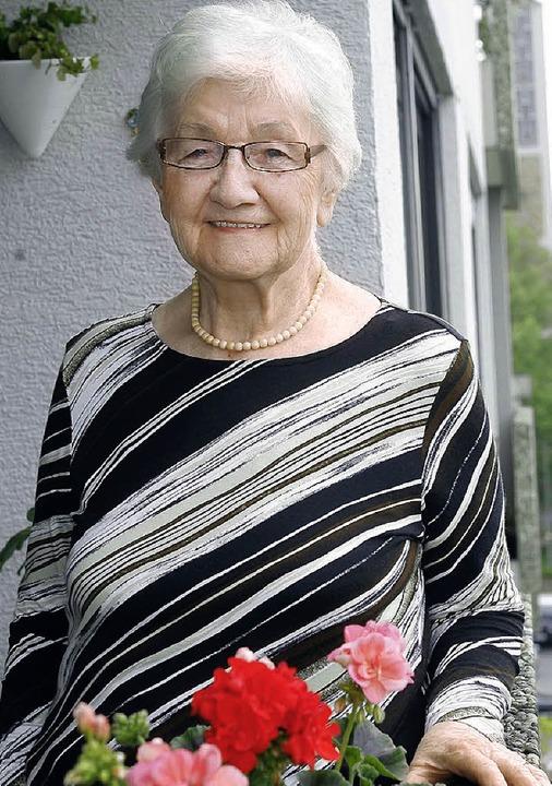 Auch mit 85 ist Lina Weidner unternehmungslustig und bemerkenswert fit.   | Foto: Peter Heck