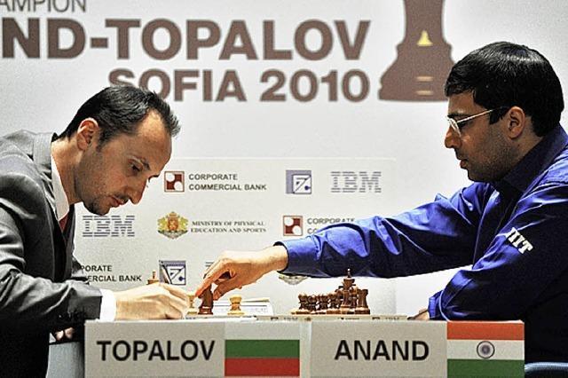 Anand bleibt der König am Schachbrett