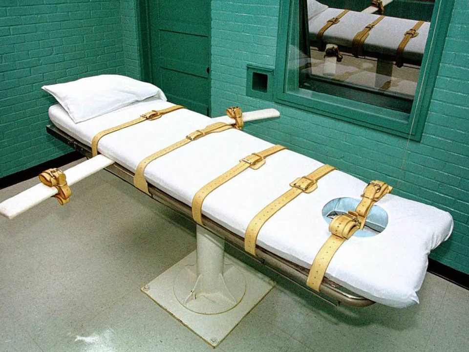 Der Hinrichtungsraum in einem US-Gefän...r wird Dieter Riechmann nicht sterben.    Foto: Paul Buck