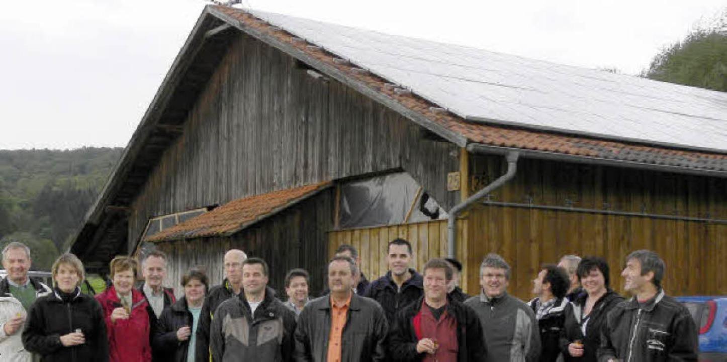 Solargemeinschaftsanlage der Mundinger Vereine    Foto: Aribert Rüssel