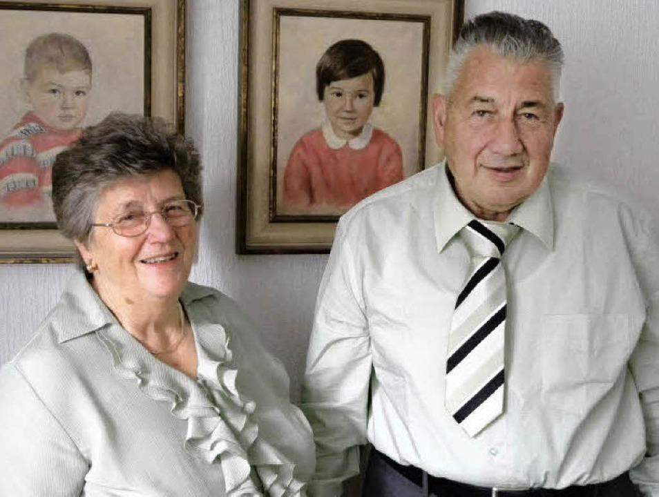 Seit 50 jahren ein glückliches Paar. W...d Maria Anna geb. Lorch aus Köndringen    Foto: Aribert Rüssel