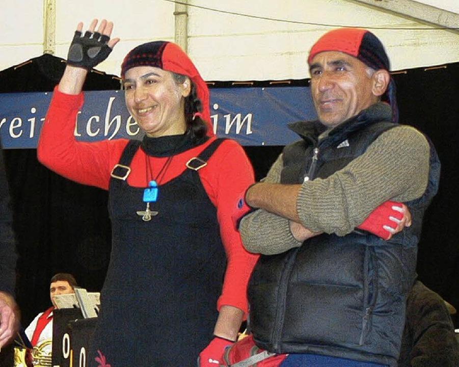 Kyoumars und Kermanian Mozhgan zu Gast beim Rheinfest   | Foto: Df