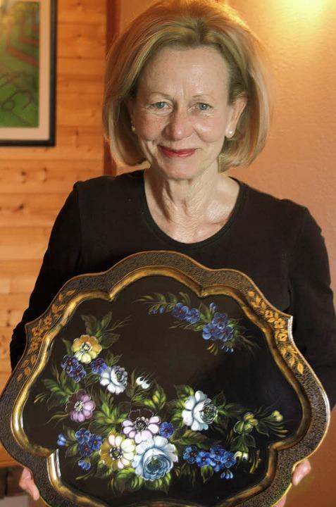 Für ihre ganz durchscheinend gearbeite...rang Renate Waschka einen ersten Preis    Foto: Karin Stöckl-Steinebrunner