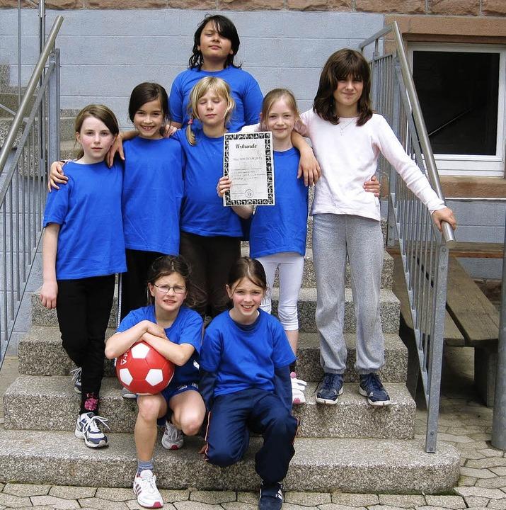 Turniersieger in Zusenhofen – di...nschaft der Grundschule in Diersburg.   | Foto: privat