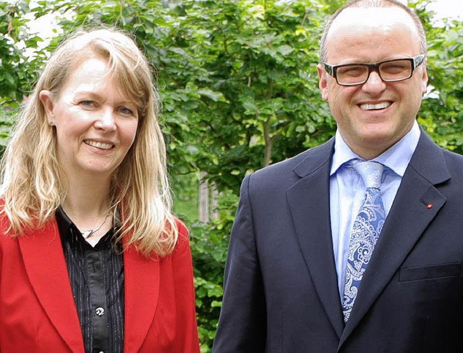 Die SPD-Landtagskandidaten Ulrike Weidt (Offenburg) und Karl-Rainer Kopf Lahr)   | Foto: Gertrude Siefke