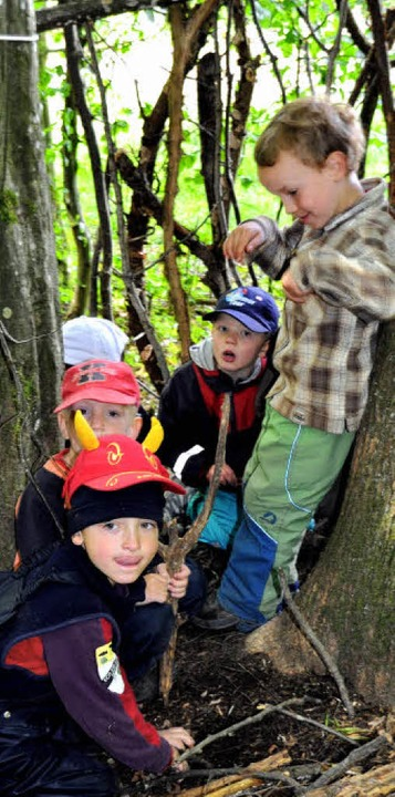 20 Kinder besuchen den Waldkindergarte...ingen, Träger ist der Caritasverband.   | Foto: Willers