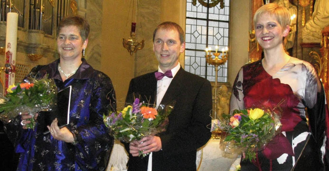 Agnès Stirnimann (Alt), Michael Donkel...eim Konzert in der St.-Martins-Kirche.  | Foto: michael gottstein