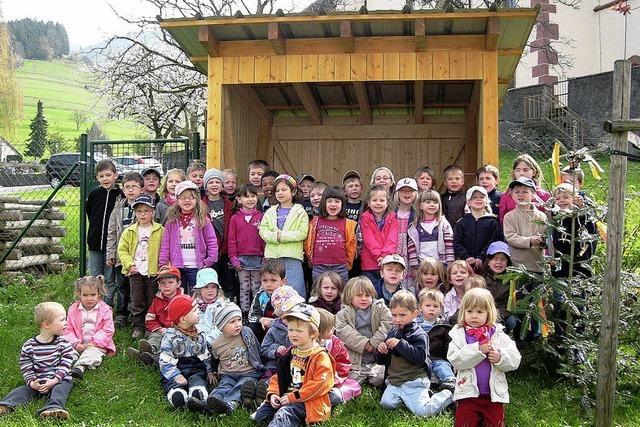 Ein Gartenhaus für Kinder