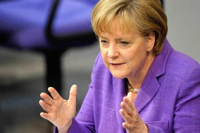 Merkels Rede zum Euro-Rettungsschirm