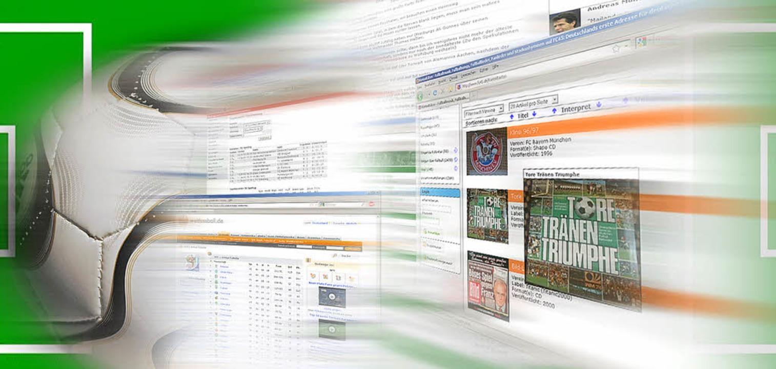 Der Ball ist digital: Nach Infos zur F...üssen Web-Nutzer nicht lange suchen.      Foto: Schierenbeck/dpa