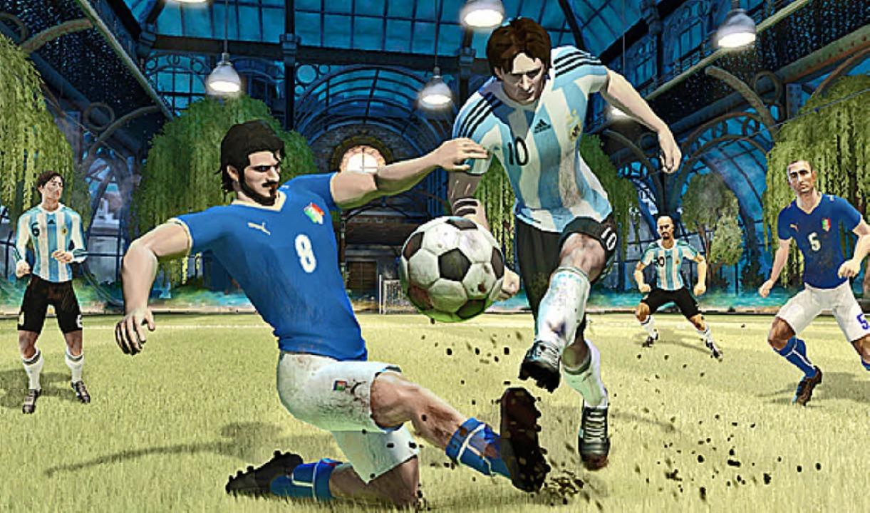 Messi ist nur durch Fouls zu stoppen -...er, der dafür Karten verteilen könnte.    Foto: Ubisoft