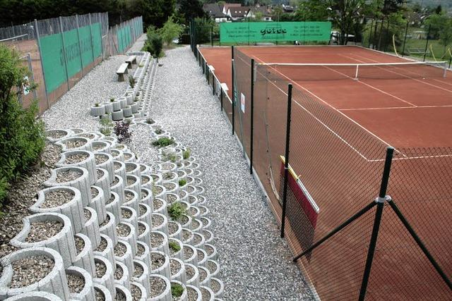 1387 Arbeitsstunden in vierten Tennisplatz investiert