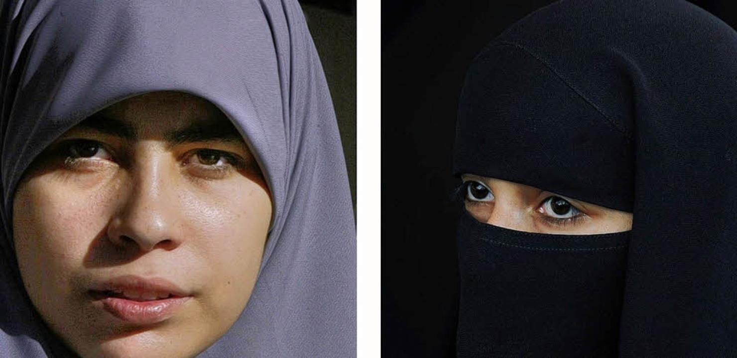 Verschleierung in Saudi-Arabien: Nikab (links) und Hidschab   | Foto: AFP