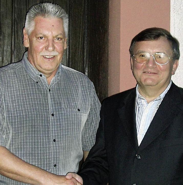Ottmar Sprich mit Pater Marian Rybak   | Foto: Privat