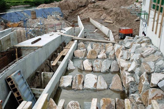 Kinzig-Wasserkraftwerk: Endspurt am Großen Deich