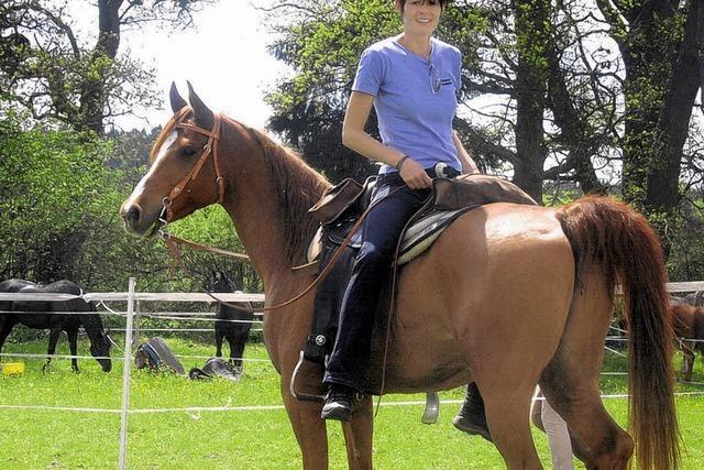 Wenn ein Reiter rückwärts auf dem Pferd sitzen muss