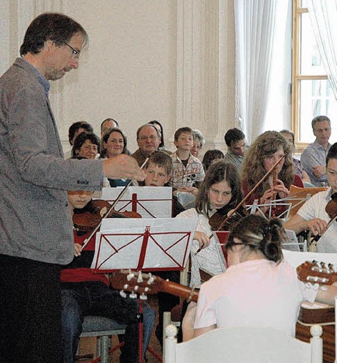 Beim Vorspiel der beiden Instrumentalk...d 6a herrschte höchste Konzentration.   | Foto: Christiane Sahli