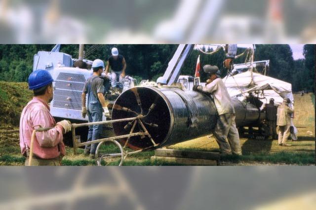 Pipeline bringt Schwörstadt Schotter