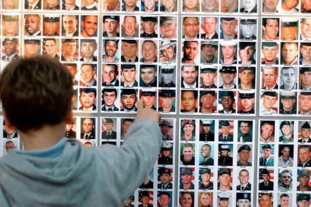 Die Schlafzimmer gefallener US-Soldaten
