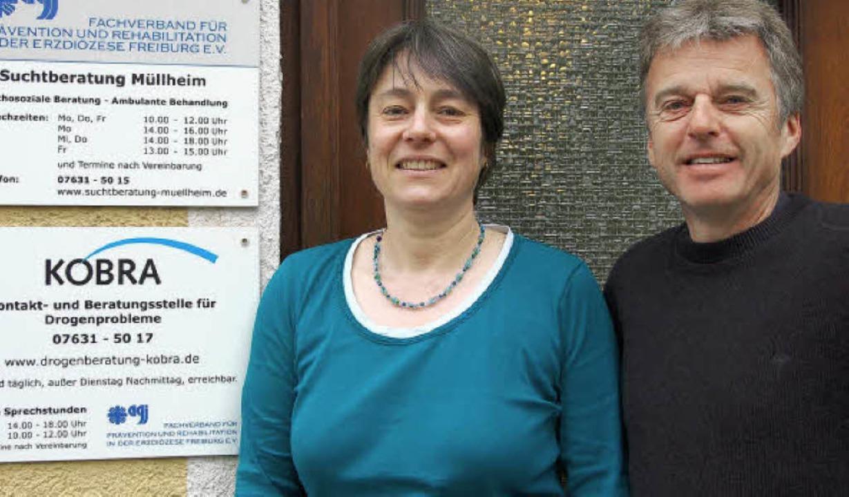 Kümmern sich um die Suchtkranken im La...tharina Braun und Horst-Dieter Bolanz   | Foto: Sigrid Umiger