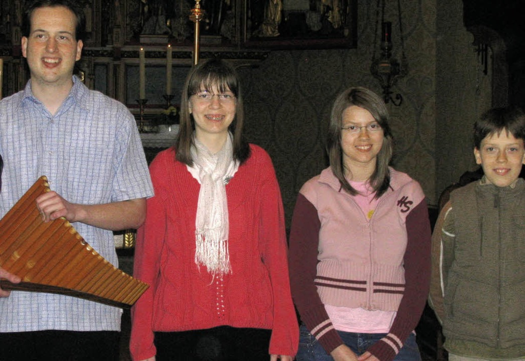 Unterstützt von seinen Geschwistern Be...in Konzert in der St.-Ulrichs-Kirche.     Foto: michael gottstein