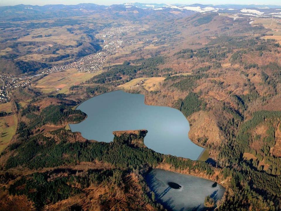 Das Haselbachbecken bei Wehr, Modell des künstlichen Sees  | Foto: SW