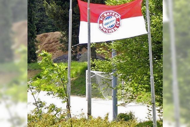 Plötzlich hing die Bayern-Fahne da