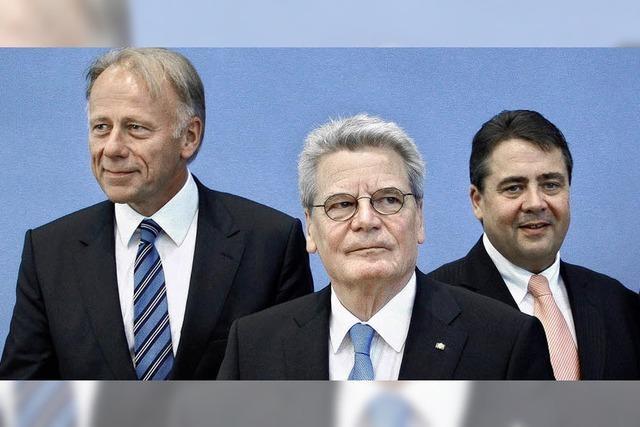 Nicht rot, nicht grün – sondern Gauck
