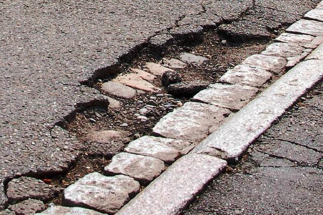 Kaum Geld für kaputte Straßen
