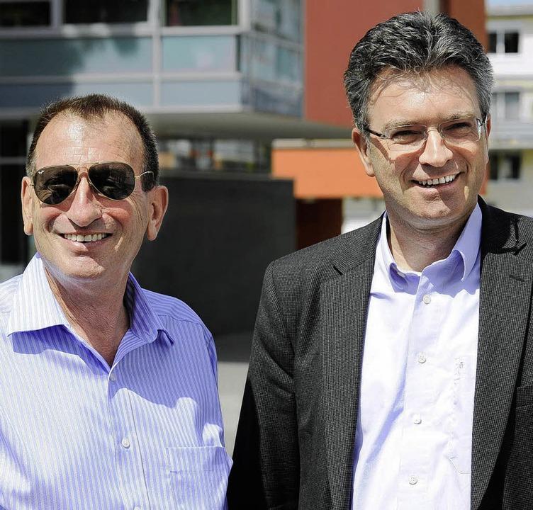 OB's unter sich: Ron Huldai (links) und Dieter Salomon  | Foto: ingo schneider