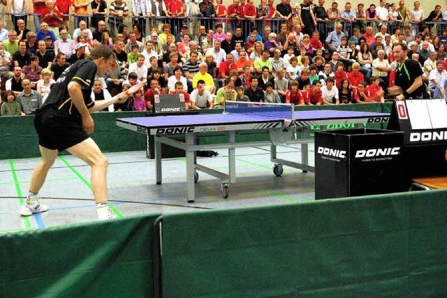 Tischtennis-Gala: Großer Sport mit allen Finessen