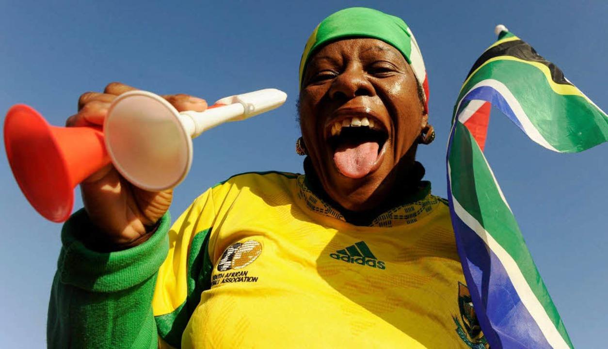 Die Vuvuzela ist das südafrikanische Fan-Utensil schlechthin.  | Foto: ddp