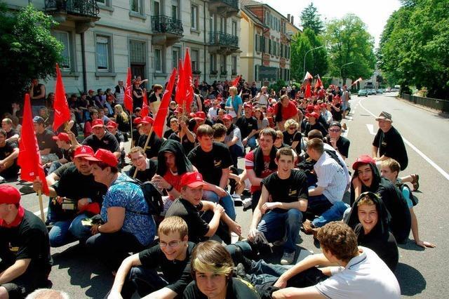 Demo in Offenburg: Metall-Jugend geht auf die Straße