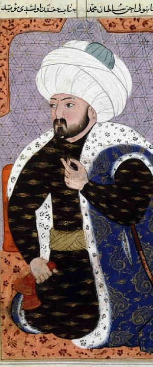 Der Eroberer Konstantinopels: Mehmed I...unten) in der islamischen  Frühzeit.    | Foto: akg/BZ/Privat