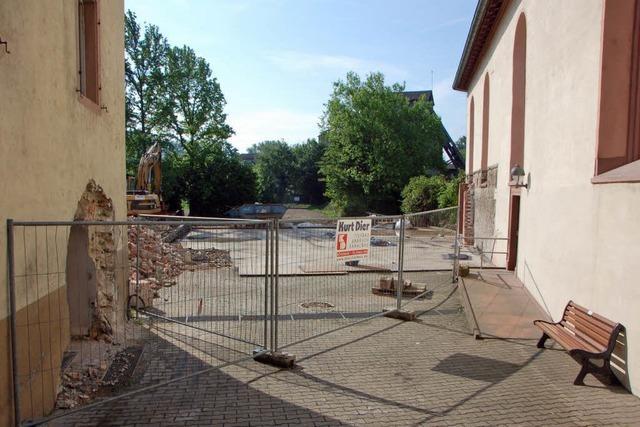 Kanalbau unter Kirchengrundstück