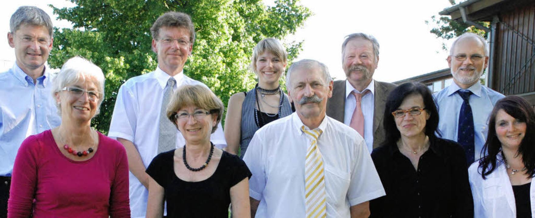 Hintere Reihe (von links): Peter Cleiß... (Wolfach) und Alexandra Busam (Kehl).  | Foto: siefke