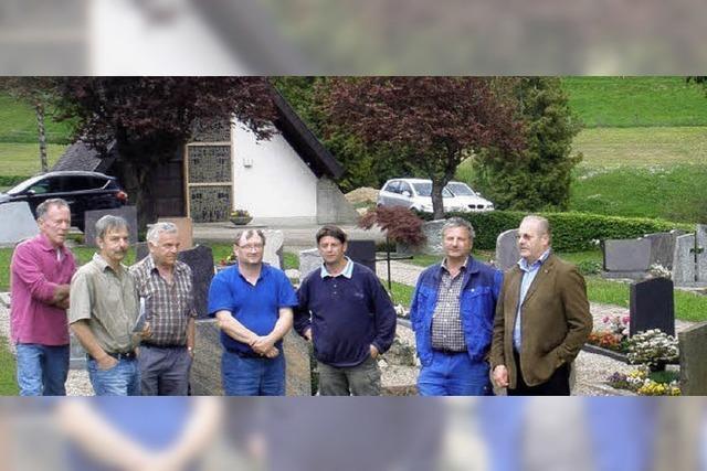 Neuer Brunnen für den Friedhof