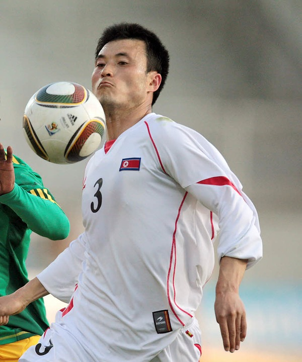 Ohne Fanunterstützung? Team Nordkorea    Foto: dpa