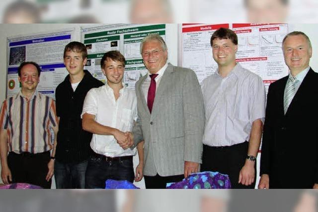 Viel Lob für drei junge Forscher