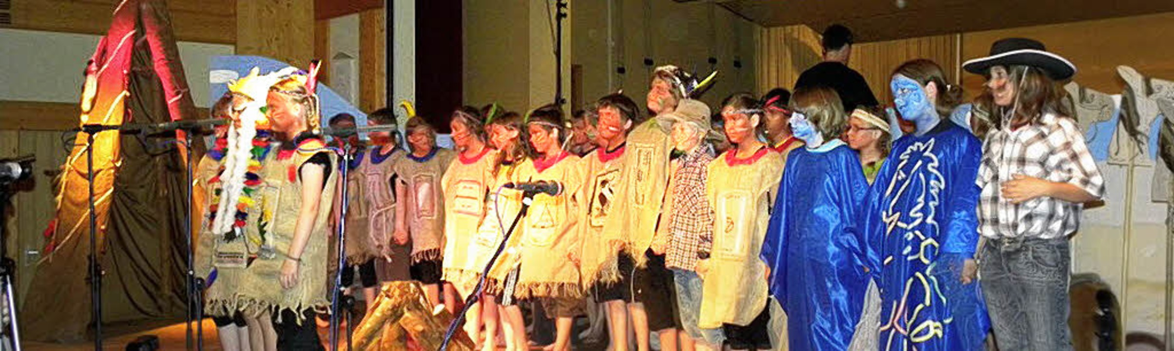 Howgh Wakatanka! Howgh! Das Kinder-Mit...de in drei Aufführungen das Publikum.   | Foto: kirsten lux