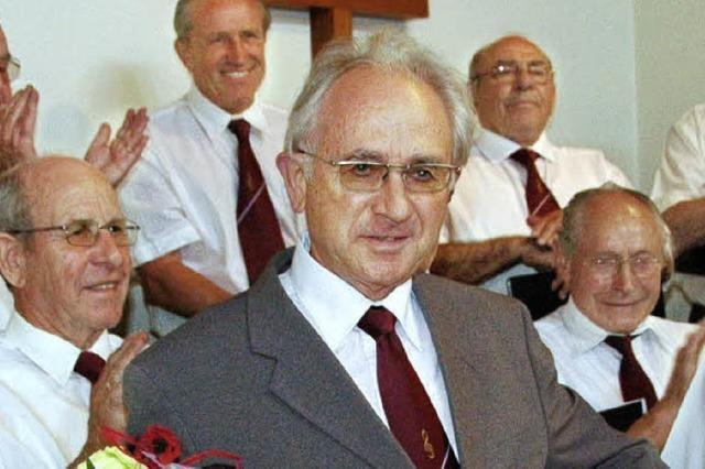 Ehrennadel des Landes für Hansjörg Hütter