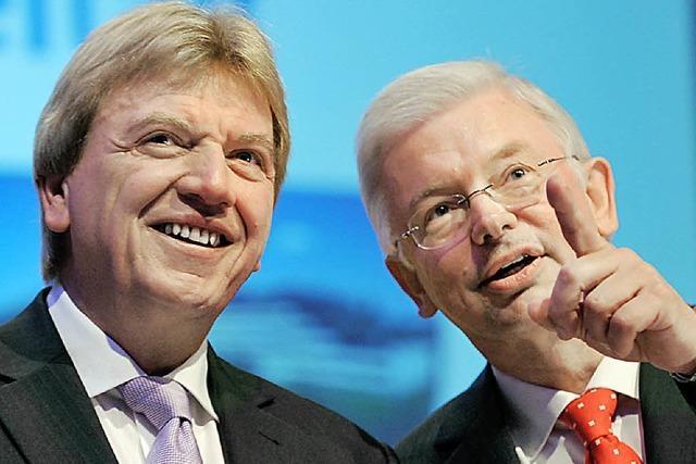 CDU verabschiedet Koch mit Tränen