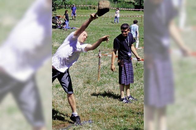 Schottenspiele im Steinbruch
