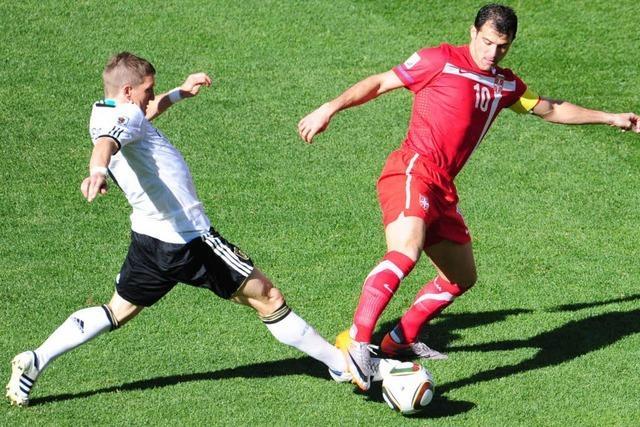 Fußball-WM: Deutschland unterliegt Serbien mit 0:1