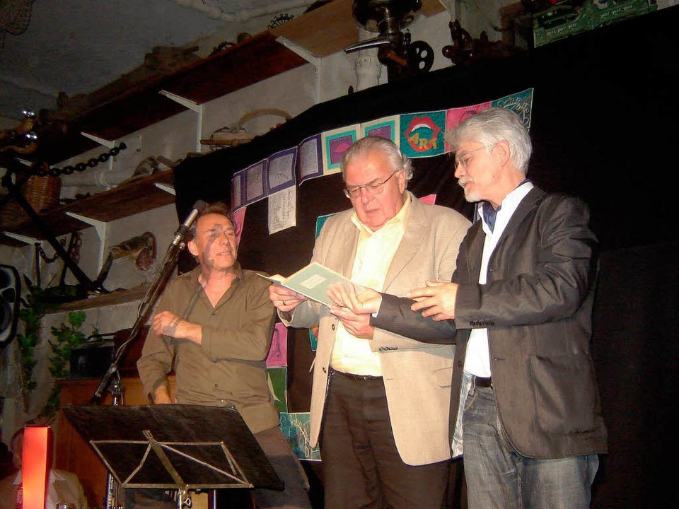 Karl Streicher, Karl Heinz Vogt und  M...erste Alemannische Nacht am Freitag...  | Foto: Bianca Flier