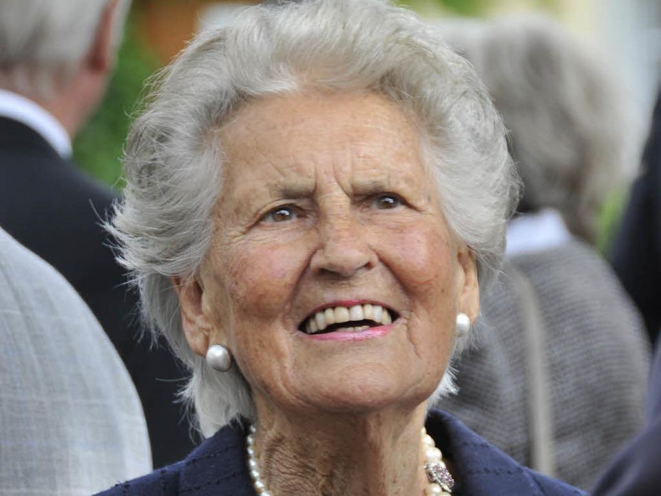 Claire Keidel 2009 bei der  Gedenkfeie...Juni im Alter von 88 Jahren gestorben.  | Foto: Ingo Schneider