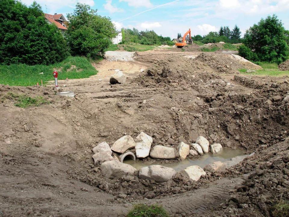 Oberflächenwasser wird mittels Rohrsys... Versickerung in Mulden geleitet wird.  | Foto: Wilfried Dieckmann