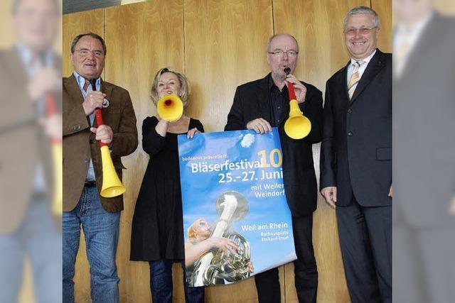 Auch beim Bläserfestival darf die Vuvuzela nicht fehlen
