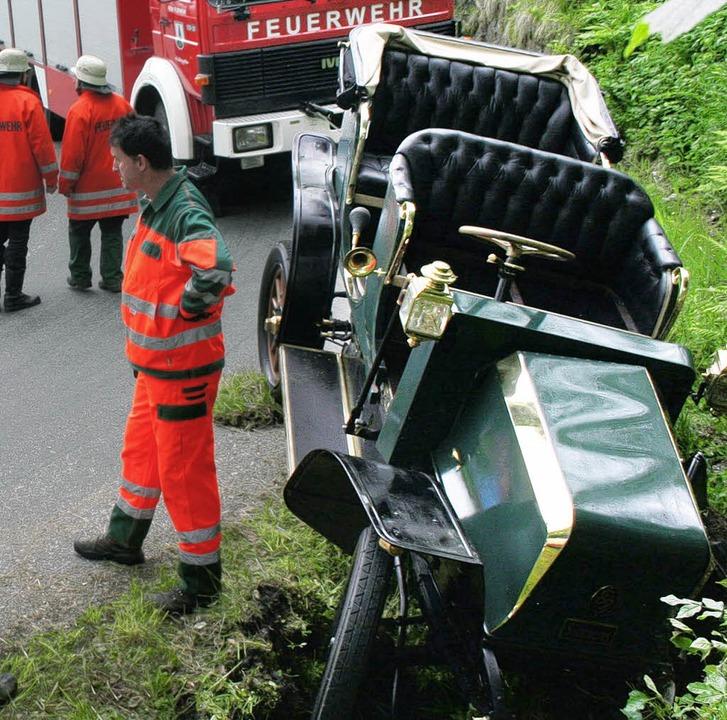"""Die verunglückte """"Elektrische Viktoria""""     Foto: Dieter Maurer"""