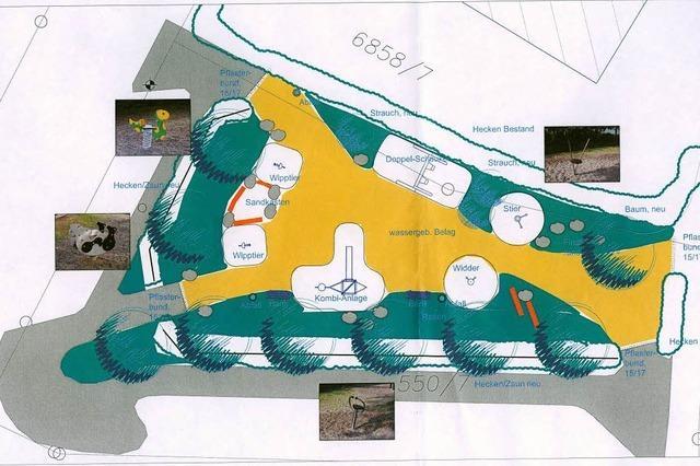 Spielplatz Spielweg wird verlegt